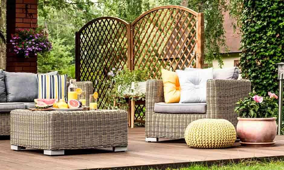 fritstående terrasse